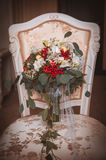 Fall bridal bouquet of flowers Royalty Free Stock Photo