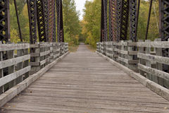 Fall Bridge Trail Scenic Royalty Free Stock Images