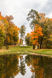 Fall. Bright fall in the park Royalty Free Stock Image
