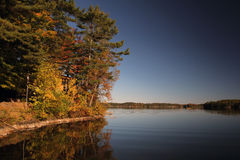 Fall on Buck lake Ontario Stock Image
