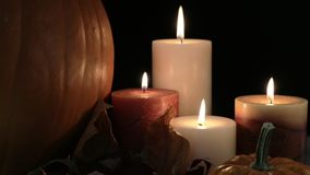 Fall Candle Still Life stock footage