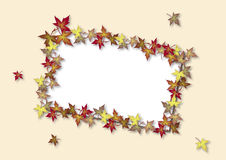 Fall Card Ivory Stock Photo