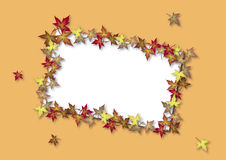 Fall Card Orange Stock Photo