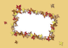 Fall Card Yellow Stock Images