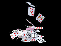 Fall of cards Royalty Free Stock Images