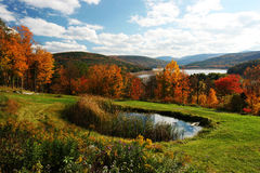 Fall in Catskill Berge. Stockbilder