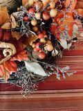 Fall centerpiece arrangement Royalty Free Stock Photo