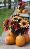 Fall centerpieces Stock Photo