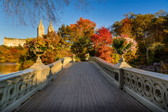 Fall in Central Park With the Bow Bridge, New York Royalty Free Stock Images