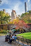 Fall in Central Park royalty free stock image