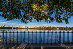 Fall at Central Park Reservoir. Upper West Side, New York Royalty Free Stock Image