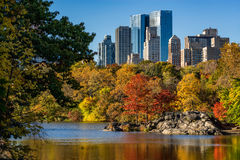 Fall in Central Park and Upper West Side, New York Royalty Free Stock Photography