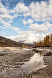Fall on the Chilkat river Stock Photo