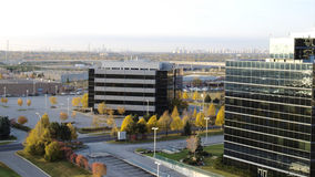 Fall in the city. Autumn trees in amongst offices, Toronto, Canada Stock Image