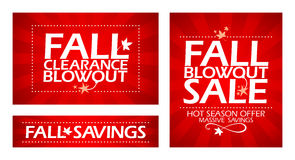 Fall clearance sale. Fall clearance sale banners Royalty Free Stock Image