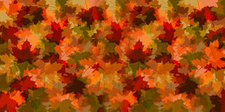 Fall cluster of leaves illustration Stock Photography