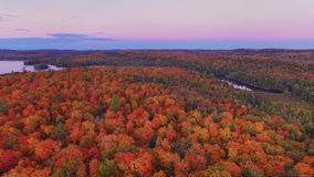 Fall color from the air Royalty Free Stock Photo