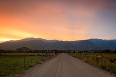 Golden fall evening in the Utah mountains. Stock Image