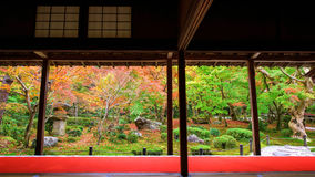 Fall color at Enkoji temple, Kyoto Stock Images