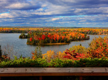 Fall color. In Huron National Forest, Lumberman's Monument Stock Images