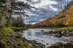 Fall color in Lake Placid NY. Fall color in the Adirondack Mountains around Lake Placid NY Royalty Free Stock Images