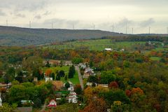 Fall color landscape in rural America Royalty Free Stock Image