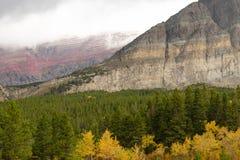 Fall Color Many Glacier National Park Montana Stock Photography