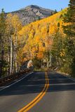 Fall Color on a Mountain Road Royalty Free Stock Photo