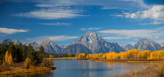 Fall Color at Ox Bow Bend Royalty Free Stock Photos
