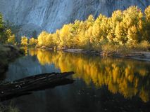 Fall color reflcection. Fall color reflection at Yosemite National Park, USA Stock Photo