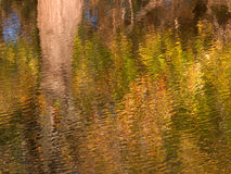Fall Color Reflections. Beautiful fall colors reflect off the Kishwaukee River in Boone County, Illinois Royalty Free Stock Photography