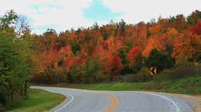 Fall Color Road Trip Royalty Free Stock Images