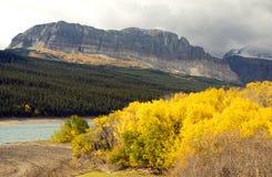 Fall Color Sherburne Lake Many Glacier National Park Montana Royalty Free Stock Photography