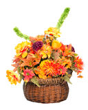 Fall color silk flower arrangement Royalty Free Stock Images
