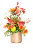 Fall color silk flower arrangement Stock Photo