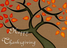 Fall Color Tree Happy Thanksgiving Card Stock Photo