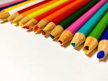 Fall coloreado de los sacapuntas de lápiz imágenes de archivo libres de regalías