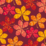 Fall colored wallpaper vector illustration. wrapping paper motif seamless pattern. Stock Photography