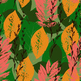 Fall colorful seamless background Stock Images