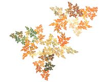 Fall Colors. Computer Fractal looking like leaves with fall colors Stock Photos