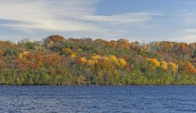 Fall Colors Across the River Stock Photography