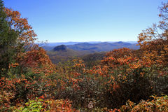Fall colors along the Blue Ridge Parkway Stock Photo