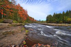 Fall Colors Along the Kettle River Stock Photography