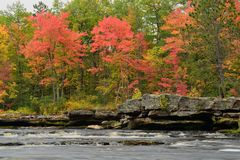 Fall Colors Along the Kettle River Stock Photo