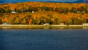 Fall Colors Along the Saint Lawrence River. Fall colors along the banks of the Saint Lawrence River near Quebec City, Canada stock images