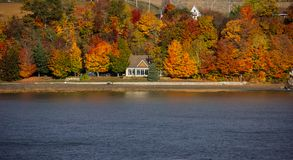 Fall Colors Along the Saint Lawrence River. Fall colors along the banks of the Saint Lawrence River near Quebec City, Canada stock image