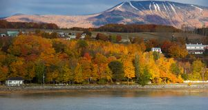 Fall Colors Along the Saint Lawrence River. Fall colors along the banks of the Saint Lawrence River near Quebec City, Canada stock photo
