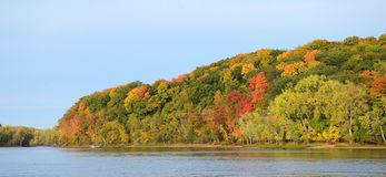 Fall Colors Along the St. Croix River Royalty Free Stock Photography