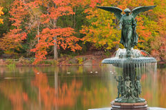 Fall Colors At Bethesda Fountain In Central Park. Stock Images