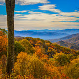 Fall colors of the Blue Ridge Parkway Royalty Free Stock Image